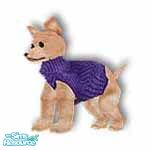 Sims 1 — Pedro Navy by TSR Archive — This little PARIS pooch want-a-be is wearing a designer angora knit sweater, comes