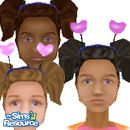Sims 1 — Hearts Head by DOT — All 3 Skin Tones :)