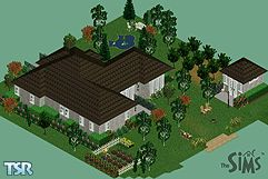 Sims 1 — **Robin's Cottage Charm by Vanilla Sim —