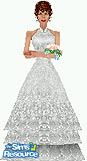 Sims 1 — A Bride by TSR Archive — Elegant and lacey Bridal gown. Floral bouquet not included, get at CORRY'S <a