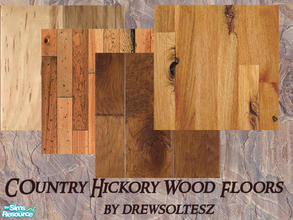 Sims 2 — Country Hickory Wood Floors by drewsoltesz — A collection of four hickory wood floors, ideal for your western