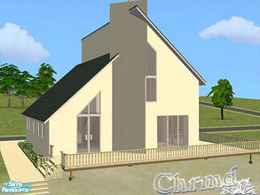 Sims 2 — Modern Beach Home by Chrmd — A beach lot,will suit vacation homes plus residential. Master bed on ground floor.2