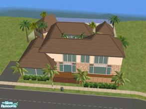 Sims 2 — Scenic Drive by KatieKing — 60x30 lot $59,587. Vacation home has a guest house, a pool house, 3 decks, 1 balcony