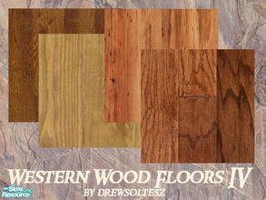 Sims 2 — Western Wood Floors IV by drewsoltesz — A collection of 4 rough and ready wood floors, ideal for that ranch or
