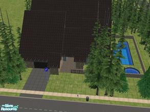 Sims 2 — Evergreen by KatieKing — Located deep in the woods, has a pool, 2 sunrooms, kitchen, living, dining, office