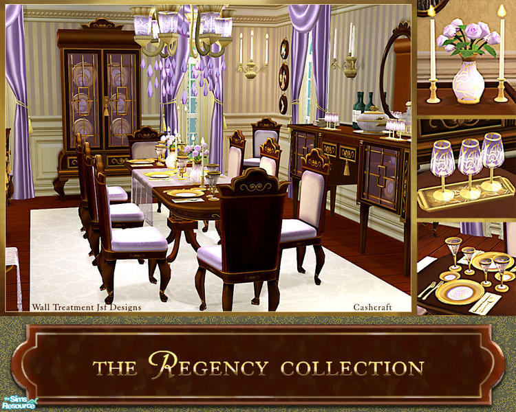 Cashcraft 39 s the regency collection for Sims 3 dining room ideas