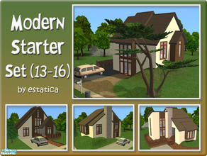 Sims 2 — Modern Starter Set (13-16) by estatica — The fourth collection of the modern starter series, it includes 4