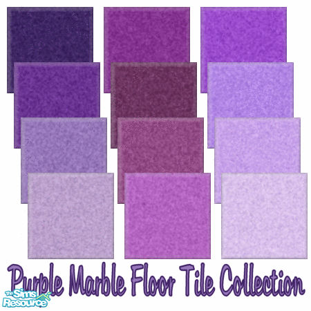Shadow66s Marble Floor Tile Collection Purple