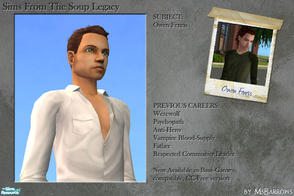 Sims 2 — Soup Sims: Owen Fenris by MsBarrows — A base-game compatible, CC-free version of Owen Fenris from my Soup Legacy