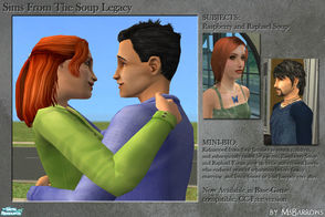 Sims 2 — Soup Sims: Raspberry and Raphael Soup by MsBarrows —