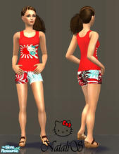 Sims 2 — NS casual teen collection-10 - item2. by Natalis — New mesh for female teen and recolors.