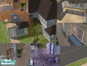 Sims 2 — Small Furnished Blue House by lalalandgirl16 — Another home in a small lot with lots of space. If you re-upload