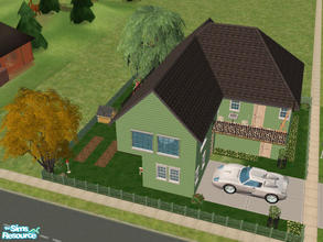 Sims 2 — 24 Piper Lane by Cali95678 — Two Story House with all skills. Maxis Content Only. Car included. Happy Simmin\'