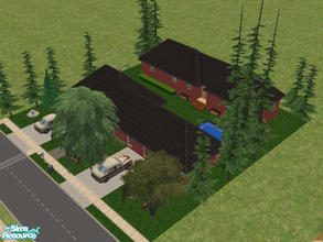 Sims 2 — 26 Piper Lane by Cali95678 — 3 bedroom,1 bath with a guest house and pool. All Skills. Maxis Content