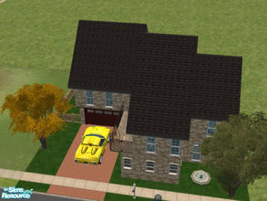 "Sims 2 — 28 Piper Lane by Cali95678 — A 2-story house for a single sim or a couple. Upstairs is a ""skills\"""