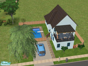 Sims 2 — 30 Piper Lane by Cali95678 — Two-story house with 1 bedroom and 2 bath. All skills and Maxis Content. The last
